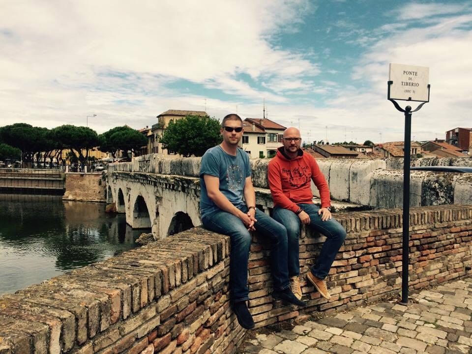 Мост Тиберия в Римини. Любимое место Федерико Феллини. Фото из архива автора.